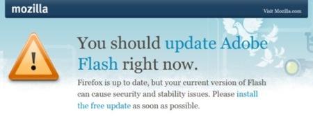 Firefox avisará si tenemos que actualizar Flash