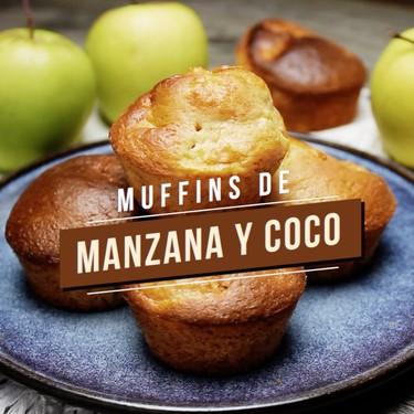 Muffins de manzana y coco. Receta de postre en video