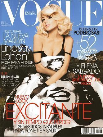 Lindsay Lohan en Vogue España: homenaje a Marilyn Monroe