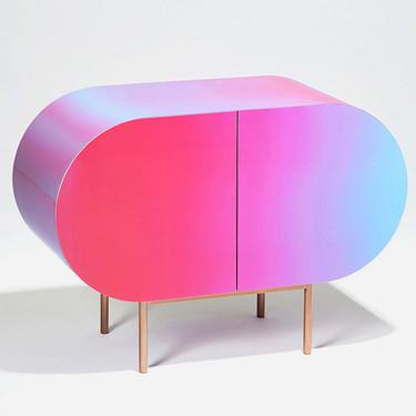 Estos muebles de diseño vintage cambian de color usando una tecnología de última generación