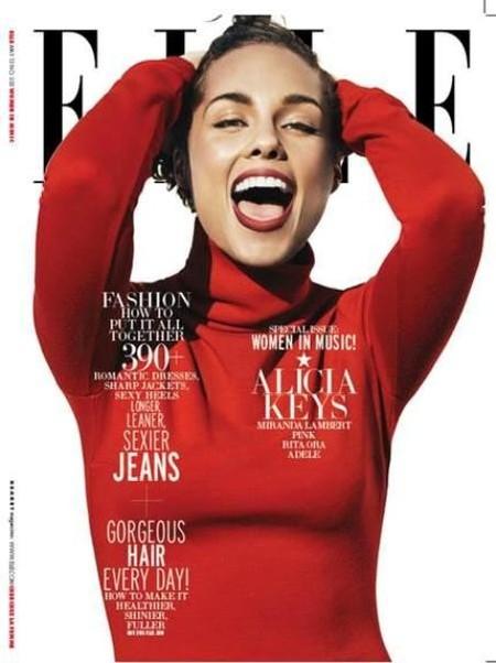 Alicia Keys hace méritos para león de la Metro Golden Mayer en la portada de ELLE