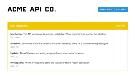 StatusPage, crea una página de status monitorizando tus sitios web y servicios en producción