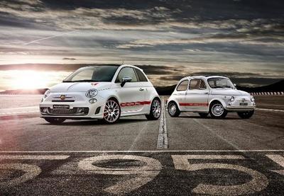 Fiat 595 Abarth 50° Aniversario: Pastel de cumpleaños