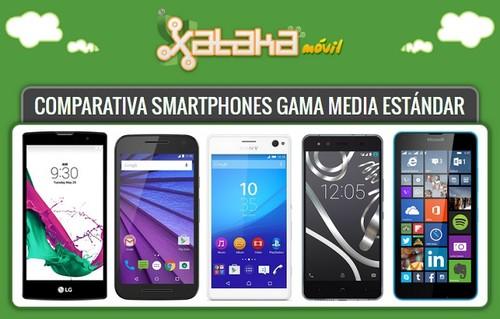 Comparativa smartphones gama media estándar: las mejores opciones, sus especificaciones y precio