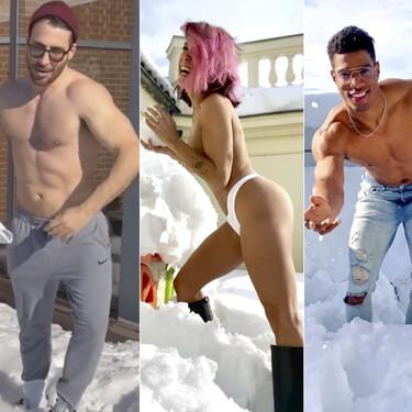 ¡En bolas van! Miguel Ángel Silvestre, Lorena Castell o Jorge Javier: 8 nuevos famosos desnudos por Madrid durante el temporal Filomena