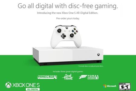 Xbox One S All-Digital Edition: la primera consola de Microsoft sin lector de discos y centrada en juegos digitales es oficial