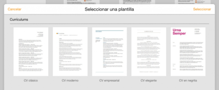 Plantilla Curriculum Iwork