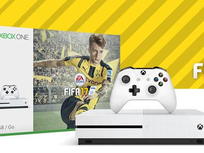 Consola Xbox One S 500GB + Fifa 17 por 250€ y envío gratis en Amazon
