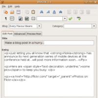 Editores de blog off-line para Linux