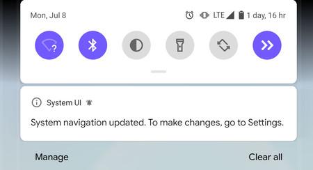 La navegación por gestos de Android Q Beta 5 se desactiva al usar otros lanzadores