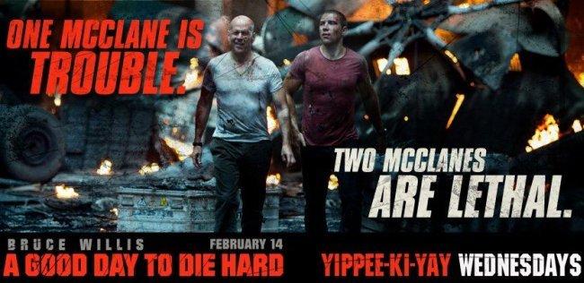Los McClane, Bruce Willis y Jai Courtney