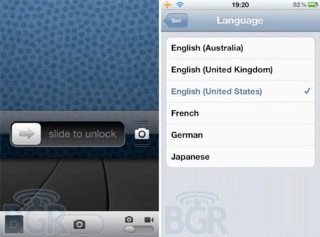 Primeras filtraciones de iOS 5.1: nueva pantalla de desbloqueo y Siri aprende idiomas