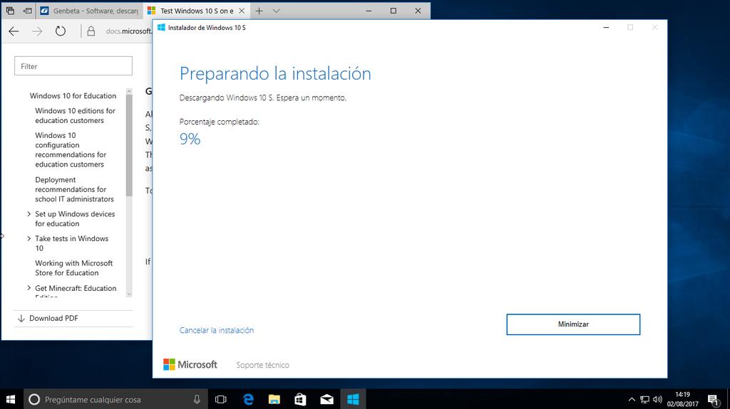 Instalar Windows 10 S 2
