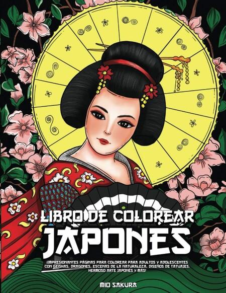 libro colorear japonés