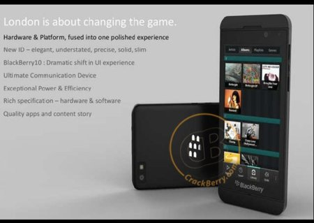 Se filtra una imagen de London, el superphone con BlackBerry 10