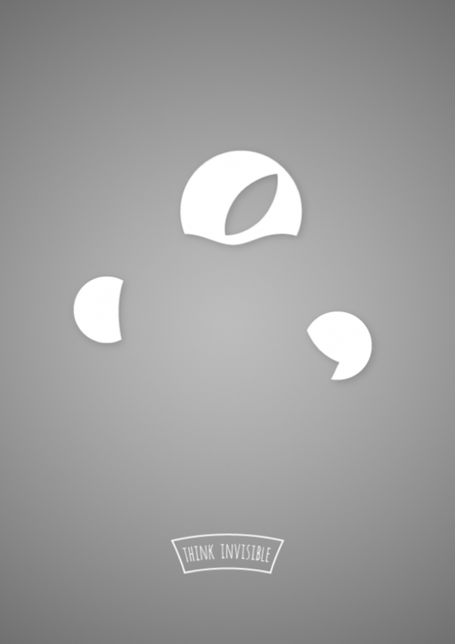 Foto de Divertida serie de posters invisibles que te harán pensar (3/6)