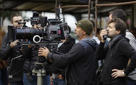 Luc Besson en el rodaje de