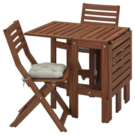 Conjunto de exterior mesa con alas abatibles