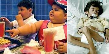 Los dos extremos, desnutrición y obesidad infantil