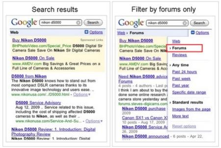 Más opciones para las búsquedas móviles de Google