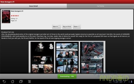 Marvel Comics en Android
