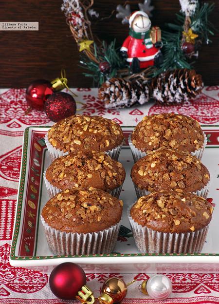 Muffins Con Mazapan Arandanos Rojos Y Crocanti
