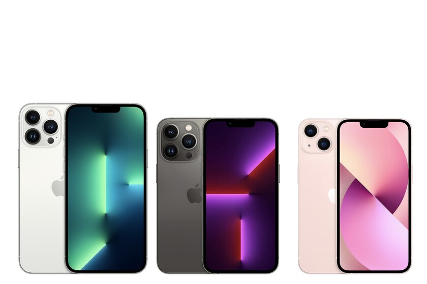 Comparison between the iPhone 13 Pro, iPhone 13, iPhone 12 and iPhone 11, the iPhone catalog seen in specifications