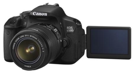 Pantalla táctil y móvil Canon 650D