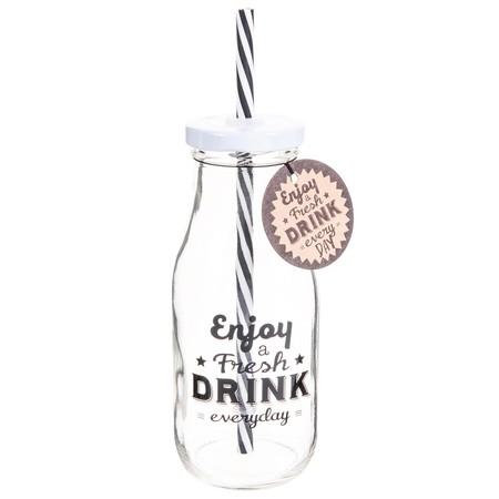 Botella con pajita barata
