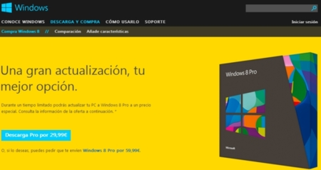 Windows 8 ya está disponible para su compra y descarga en España