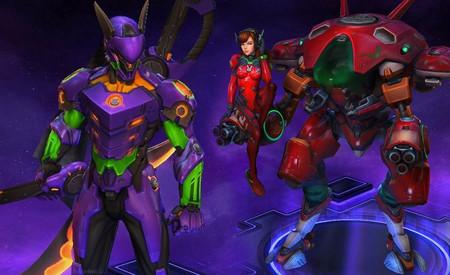 Heroes of the Storm viste a los nuevos héroes de Overwatch  de... ¿Neon Genesis Evangelion?