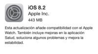 iOS 8.2 y su compatibilidad con Apple Watch ya está disponible para todos