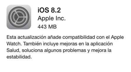 iOS 8.2 y su compatibilidad con Apple Watch ya está disponible para todos