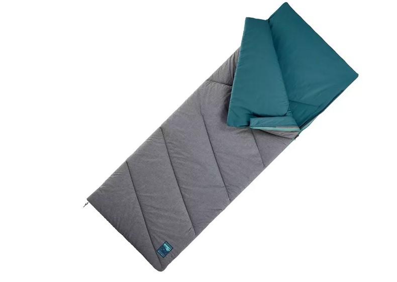 Saco De Dormir Montaña Y Camping Arpenaz Hombre Mujer Azul 10ºC Algodón