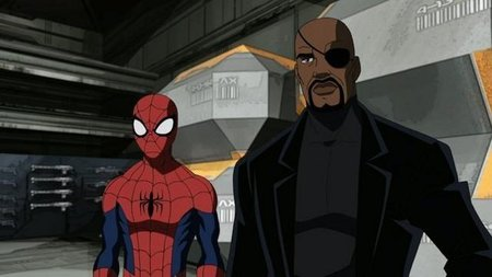Ultimate Spiderman y Nick Fury