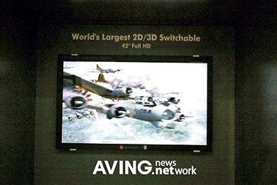 Monitor que cambia entre 2D y 3D