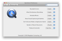 Modifica las opciones de Quicktime Player X