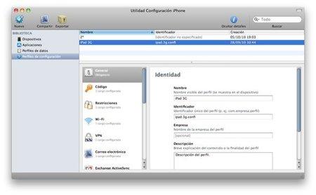 Crear perfiles personalizados para los dispositivos con iOS: iPad, iPhone o iPod Touch
