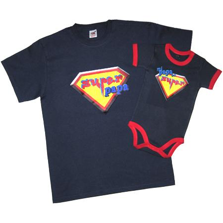 Día del padre: set de camisetas para papá y el bebé