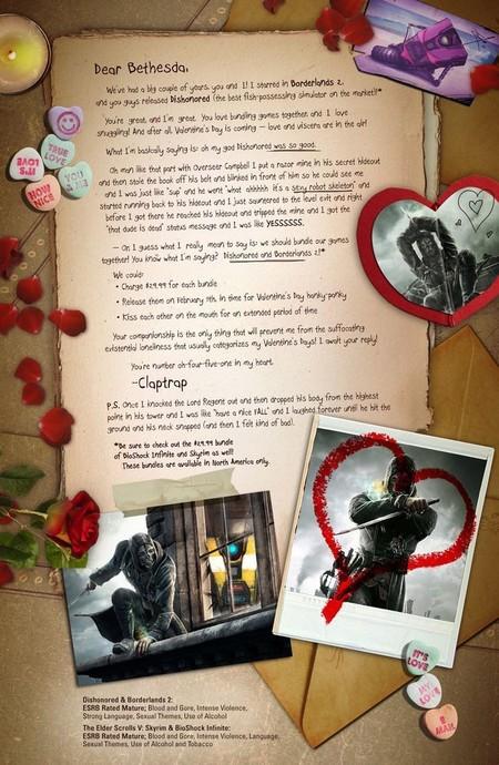 Carta de amor de Claptrap a Bethesda
