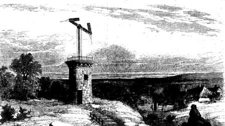 No, esto no es un molino: es el primer sistema de telecomunicaciones, un telégrafo óptico