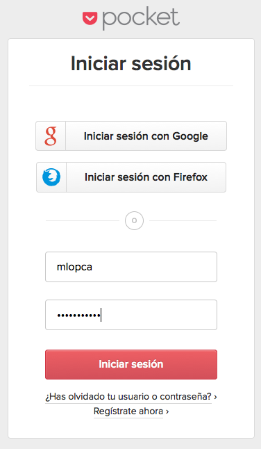 Pocket Firefox Login 2