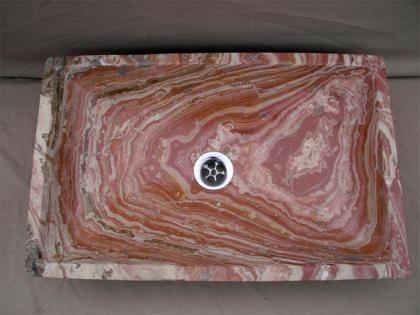 Lavabo rectangular de marmol Vetusto