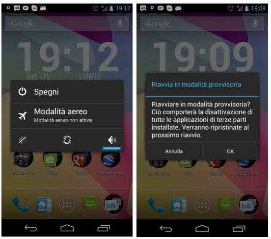 Modo Seguro Android 4.1