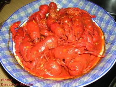 Receta de cangrejos de río picantes