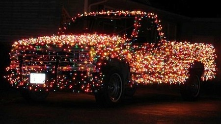 Decorated Christmas Truck