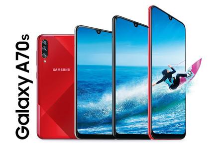 Samsung Galaxy A70s: el primer Samsung con cámara de 64 MP incluye carga rápida y lector de huellas en pantalla