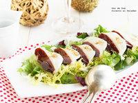 Ensalada de jamón de pato y mozarella. Receta de Navidad