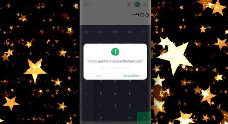 Si quieres usar la calculadora científica de Alcatel... debes puntuar cinco estrellas