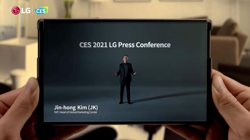 LG muestra (brevemente) su futuro móvil con pantalla